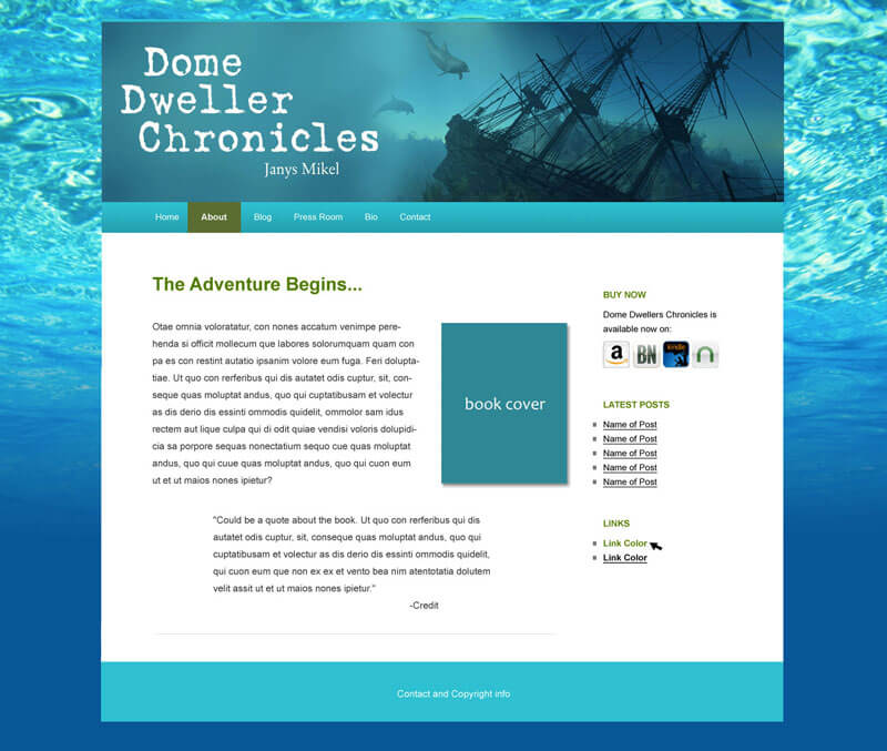 Writers Website Themes
