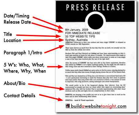 5 tips for writing a catchy press release and doing it for Artist press release template