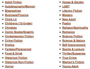 Book Review Genres