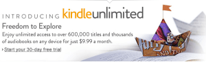 Kindle Unlimited 300x92 Is Your Book for Sale at Kindle Unlimited?