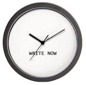 wall clock write now Whats Your Writing Routine?