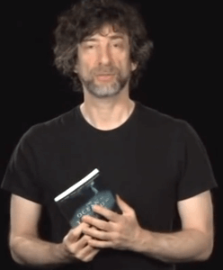 author neil gaiman on book club promo 248x300 A Clever Twist on Video and Book Club Promo from Author Neil Gaiman