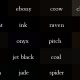 How many ways can you describe black?
