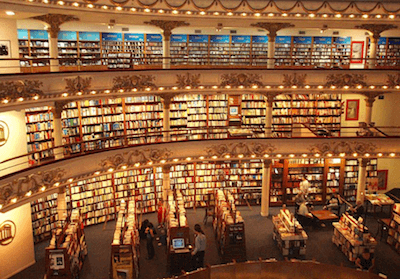crowded book marketplace