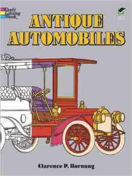 Dover-Antique-Automobiles-coloring-book