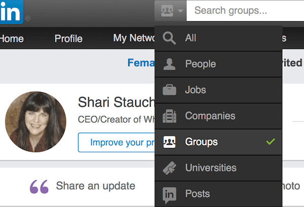 LinkedIn Search Options
